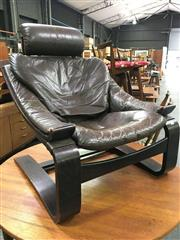Sale 8643 - Lot 1145 - Bentwood Chair with Leather Upholstery