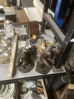 Sale 9101 - Lot 2346 - A Collection Of Sundries Incl Bookends, Rooster Tureen, Keys etc