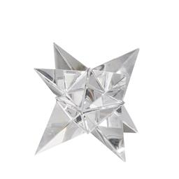 Sale 9140F - Lot 179 - A Glass Crystal Star Ornament with a smooth surface, faceted glass lines and light weight. Dimensions: W15 x D15 x H15 cm