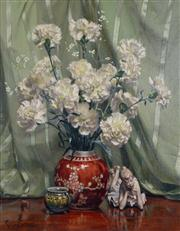 Sale 8000 - Lot 176 - Reg Campbell (1923 - 2008) - Carnations oil on canvas on board
