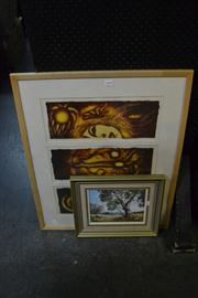 Sale 8441T - Lot 2048 - Kate Bliss - Framed Limited Edition Print & Small Painting by Nan Rogers (2)
