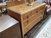 Sale 8745 - Lot 1026 - Raised Maple & Veneered Dressing Table with Five Drawers