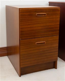 Sale 9155H - Lot 76 - A two drawer filling cabinet. Height 72cm x Width 46cm x Depth 57cm