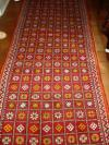 Sale 7541 - Lot 6 - Hall runner decorated in red, yellow & white geometric pattern