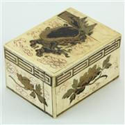 Sale 8372 - Lot 96 - Meiji Ivory Lidded Box