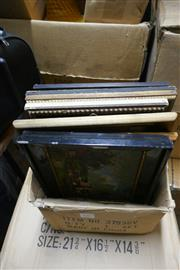 Sale 8362 - Lot 2087 - Box of Assorted Artworks including original paintings, etching, engravings, and decorative prints
