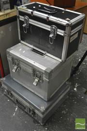 Sale 8370 - Lot 1831 - Cadillac Rd Case (H: 35cm W: 30cm D: 42cm), Together With Two Other Road Cases