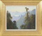 Sale 8449A - Lot 525 - Leonard Long (1911 - 2013) - From Combyne Mountains, NSW 1998 39.5 x 50cm