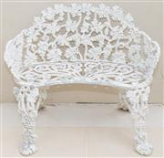 Sale 8470H - Lot 3 - A cast alloy Victorian style two seater bench, H 72 x W 83cm
