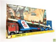 Sale 8559A - Lot 90 - Corgi Major no. 1138 Car transporter with Ford tilt Cab H Series Trailer, in box with original display insert