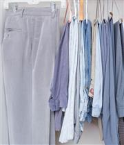 Sale 8593A - Lot 120 - A quantity of men's slacks, trousers and jeans and a pair of overalls (new), mainly waist 97