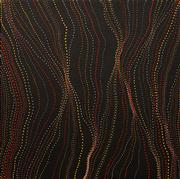 Sale 8624 - Lot 510 - Anna Price Pitjara (c1965 - ) - Bush Yam Seed Dreaming 60 x 60cm (stretched & ready to hang)