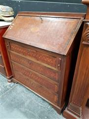 Sale 8697 - Lot 1004 - Inlaid Drop Front Desk