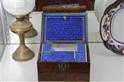Sale 7998 - Lot 61 - Walnut & Mother of Pear Inlay Writing Slope