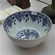 Sale 8236 - Lot 32 - Early Export Blue & White Bowl