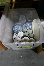 Sale 8362 - Lot 2463 - Box of Crockery and Glassware incl Riedel