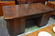 Sale 8532 - Lot 1272 - German Art Deco Twin Pedestal Desk with Fitted Drawers (H 78 x L 165 x W 83cm)