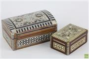 Sale 8546 - Lot 171 - Pair Of Mother Of Pearl Trinket Boxes