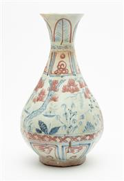 Sale 8863H - Lot 21 - A Chinese vase in the Ming style, faintly decorated with a central foliate band, height 35cm