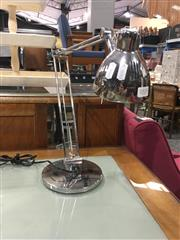 Sale 8740 - Lot 1515 - Pair op Chrome Table Lamps