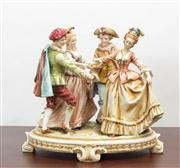 Sale 8774A - Lot 173 - A Rudolstadt group by EA Muller, The Dance on an oval base, H x 24cm