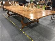 Sale 8809 - Lot 1037 - Parquetry Top Extension Dining Table with Drawer Leaves (H: 76 L: 270 / 382 W: 149cm)
