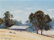 Sale 8938 - Lot 507 - Leonard Long (1911 - 2013) - In the Capertee Valley, NSW 1983 14 x 19 cm