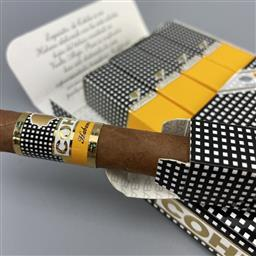 Sale 9165 - Lot 758 - Cohiba Exquisitos Cuban Cigars - pack of 5 cigars, removed from box dated February 2018