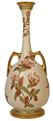 Sale 7978 - Lot 58 - Royal Worcester Double Handled Vase