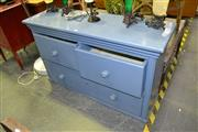 Sale 8124 - Lot 1035 - Painted Three Drawer Timber Chest