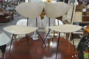 Sale 8251 - Lot 1065 - Pair of Aristoc 1950s Chairs in Grey