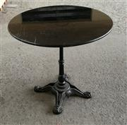 Sale 8402B - Lot 37 - French Style Table with Black Granite Top on Cast Iron Base, 80cm diameter