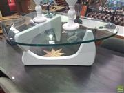 Sale 8648C - Lot 1035 - Naguchi Style Glass Top Coffee Table - as new