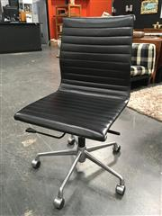 Sale 8782 - Lot 1373 - Reproduction Eames Black Leather Office Chair