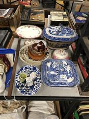 Sale 8797 - Lot 2444 - Collection of Ceramics incl. Soup Tureen & Matching Serving Dish, Comport, Plates, etc