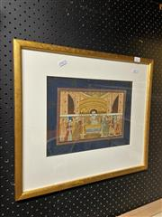 Sale 9061 - Lot 2034 - Indo Persian School gouache painting, frame: 42 x 48 cm