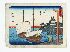 Sale 3803 - Lot 748 - HIROSHIGE ANDO (1797-1858) - Boats in Harbour 19 x 25 cm.