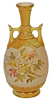 Sale 7978 - Lot 59 - Royal Worcester Double Handled Vase