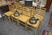 Sale 8257 - Lot 1085 - Set of Eight Dining Chairs