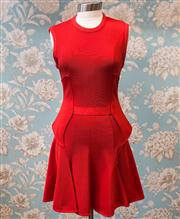 Sale 8577 - Lot 100 - A Givenchy Paris red viscose dress, size 12 - 14, Condition - Very Good