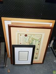 Sale 8645 - Lot 2093 - 4 Artworks incl Croisades Map & an Alison Buchanan 16/200 Print