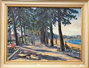 Sale 8794 - Lot 2044 - Peter Panom - Manly Beach oil on board, 64.5 x 82.5cm (frame) signed lower right