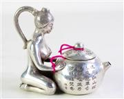 Sale 8926A - Lot 638 - A Lady Themed Teapot (H 12cm)