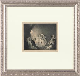 Sale 9190W - Lot 89 - Norman Lindsay - From the Moon 16x20cm