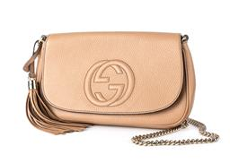 Sale 9165H - Lot 83 - A Gucci Bag with gold chain and tassel with dust bag, as new. Height 18 x Length 29 x Width 50 cm