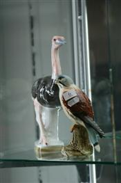 Sale 7875 - Lot 6 - Beswick Figure of a Kestrel & Another Figure of an Ostrich