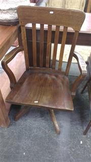 Sale 7944A - Lot 1086 - Vintage Timber Swivel Chair