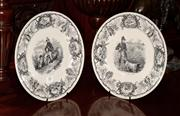 Sale 8127A - Lot 88 - A Pair of Monochrome Villeroy and Bosch Cabinet Plates,