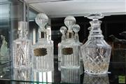 Sale 8226 - Lot 7 - Cut Crystal Decanters with a Pair of Glass Examples