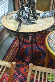 Sale 8262 - Lot 1041 - Mosaic Top Outdoor Table